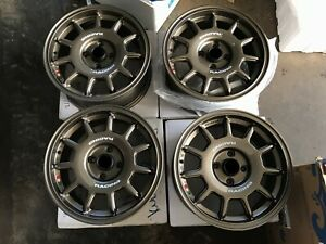 For Miata Route Mx5 Civic E30 Eg6 Dc2 Jdm Rally Style 15 Wheels Rim Turbofan