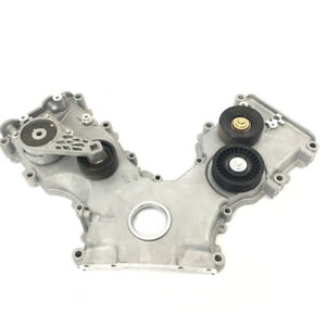 Genuine Ford Timing Chain Cover 4 6l 2v Complete W Pulleys Idler Gasket