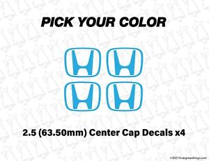 2 75 Inch Center Cap Decals For 08 09 Honda S2000 S2k Oem Wheel 3 Inch Stickers