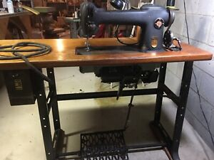 Vintage Singer Industrial Sewing Machine With Table