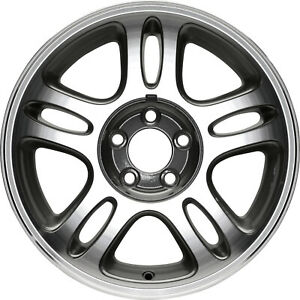 03174 Refinished Ford Mustang 1996 1997 17 In Wheel Machined W charcoal W notch