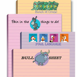 Funny Adult Notepad Assortment small Gift Office Gift Novelty Nopteads 603