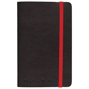 Black N Red Casebound Soft Cover Journal Notebook Small Black 71 Ruled Pack