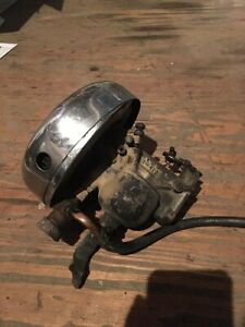 Linkert M74b Carb Harley Indian Off Of 1961 Panhead W Air Cleaner And Cover