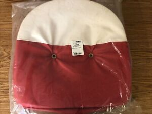 Tractor Seat Cushion Red And White Pan