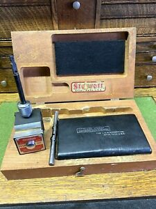 Starrett 657 Magnetic Holder Base Attachment Kit And Wood Case