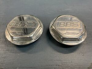 2x Bbs Center Cap Hex Custom Cnc Polished Aluminum For Rs Rs2 70mm Threads