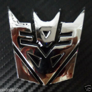 Car Emblem Decepticon Transformers Chrome Abs For Malibu Siverado Badge Sticker