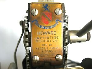 Howard Imprinting Machine Hot Foil With Foil Type