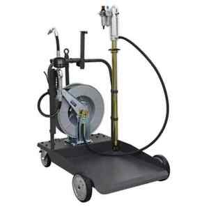 Sealey Oil Dispensing System Air Operated With 10m Retractable Hose Reel Gara