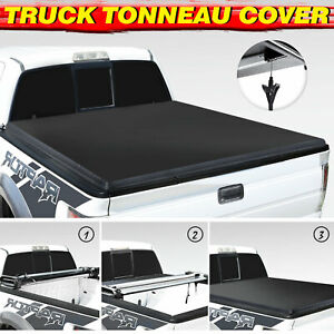 Fit 2015 2021 Ford F150 4th fold Truck Bed 5 5 Ft Soft Vinyl Tonneau Cover