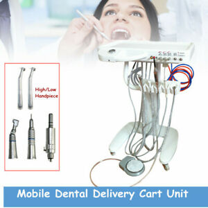 Usa Portable Mobile Dental Delivery Cart Unit System High low Handpiece Set Us