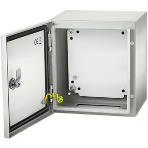 Vevor 12x12x8 Carbon Steel Electrical Enclosure Ip65 Wall Mount Junction Box