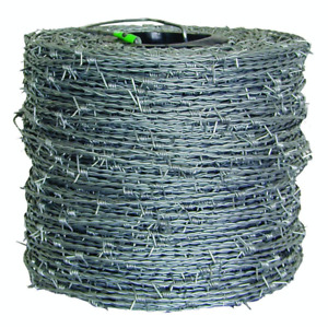 Farmgard Barbed Wire 1320 Ft High tensile 15 1 2 gauge 4 point Sharp Galvanized