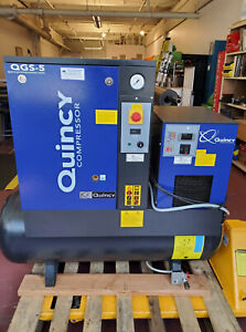 Quincy Qgs 5 Rotary Screw Air Compressor 5 Hp With Dryer And 60 Gallon Tank