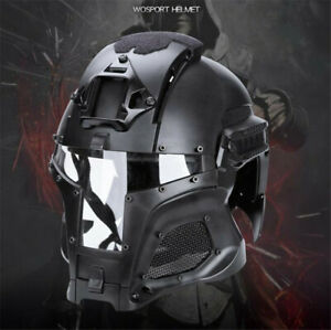 Tactical Retro Medieval Iron Warrior Cos Motorcycle Airsoft Helmet Mask Outdoor $126.89