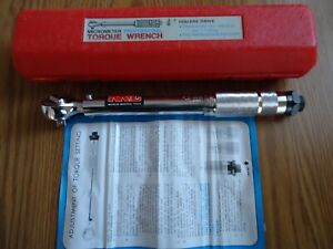 M i t Micrometer Professional 3 8 Torque Wrench With Case Instructions