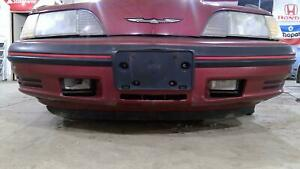 87 88 Ford Thunderbird Turbo Coupe Oem Front Bumper Assembly Bright Red Pearl