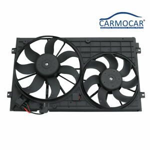 Ac Radiator Cooling Fan Assembly For 05 10 Vw Golf Jetta Rabbit 2 0l 2 5l