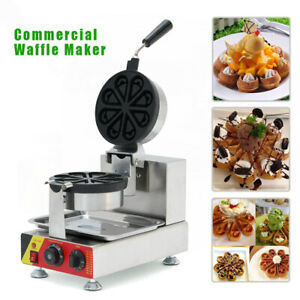 Commercial Nonstick Electric Rotating Waffle Muffin Maker Electric Oven Np 593