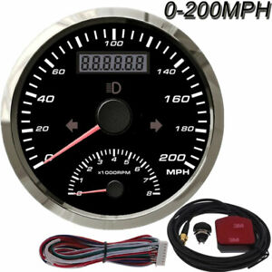 85mm Digital Gps Speedometer Gauge 200mph With Tachometer 8000rpm For Car Boat