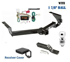 Trailer Hitch Package 1 7 8 W Cover For 2008 2013 Toyota Highlander Exc W 19