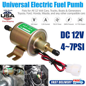 12v Gas Diesel Inline Hep 02a 4 7 Psi Low Pressure Electric Fuel Pump Universal