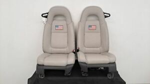 Chevy Ssr Oem Front Seat Set Power Heat Gray Aftermarket Covers Usa Flag Hot Rod