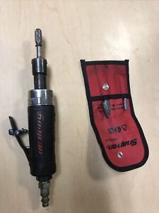 Snap On Mini Straight Die Grinder Pt100a With Carbide Grinding Set