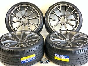 20 Inch Wheels Rims And Tires Fit Bmw M5 Brass Grayis M6 5x1120 6 Machined Black