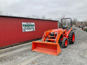 2018 Kubota L3901 4x4 39hp Compact Tractor W Loader Only 100 Hours