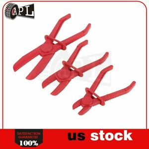 Flexible Fuel Water Hose Clamp 3 Pieces set Pinch Off Pliers Brake Line Pipe