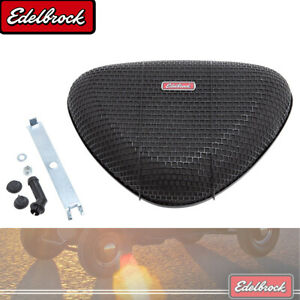 Edelbrock 10023 Pro Flo Triangle Black Mesh Re Usable Air Cleaner 5 125 Neck