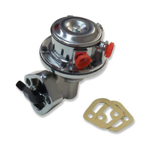 High Volume Mechanical Fuel Pump Chrome For Sbc Chevy 350 400
