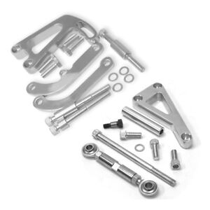 Polished Alternator Power Steering Brackets For Sbc Chevy Lwp Long Water Pump