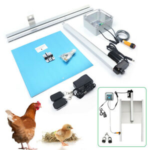 Automatic Chicken Coop Door Opener Kit Infrared Induction Design W Remote 12v