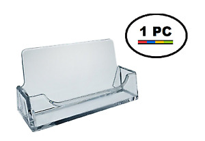 One Acrylic Plastic Business Card Holder T z Tagz Style Clear Display Stand