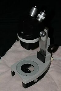 Reconditioned Stereostar Zoom Microscope 10x 45x Optional Base light