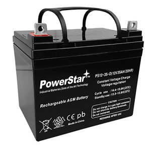 True Deep Cycle Sealed Agm Replacement Golf Cart Battery 12 Volt 35 Amp Hour