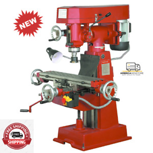 9 Speed Vertical Milling Machine handle All Kinds Of Milling Jobs