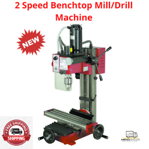 2 Speed Benchtop Mill drill Machine 2speed Ranges 0 1100 Rpm And 0 To 2500 Rpm