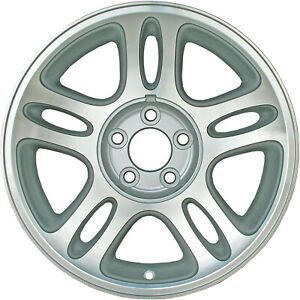 03174 Refinished Mustang 1996 1997 17in Wheel Painted Silver No Center Cap Notch