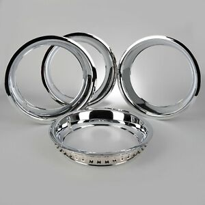 1968 1982 Corvette Rally Wheel Chrome Plated Trim Rings Car Set Of 4 603295