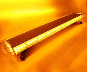 Car 72 Led Amber Emergency Beacon Response Strobe Light Bar Truck Tow Roof Lamp