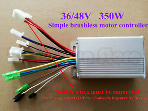 Us 36v 48v 350w Electric Bicycle E bike Scooter Brushless Dc Motor Controller