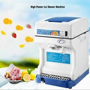 Electric Ice Shaver Crusher Machine For Commercial Kitchen Equipment 120kg h Kit