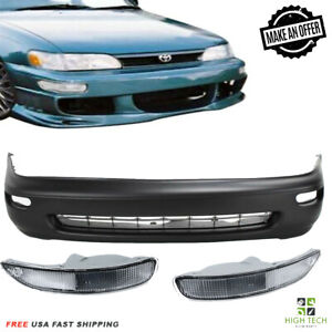 Front Bumper Cover For 1993 1997 Toyota Corolla Free Fog Lamps Clear 5211902902