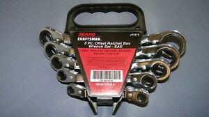 Craftsman Sears 5 Pc Offset Ratchet Box Wrench Set Sae Usa New old stock