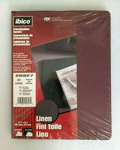 Ibico 23 Linen Presentation Covers Business Report 11 1 4 X 8 3 4 Maroon 25327