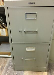 Anderson hickey Co Vertical File Cabinet 2 Drawer Grey Used No Lock